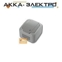 Розетка с заземлением ViKO Palmiye 90555508 Серый