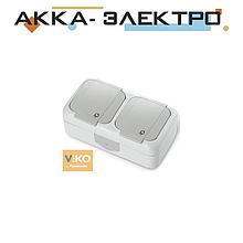 Розетка з заземленням 2-ва ViKO Palmiye 90555488 Білий