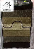 Набор ковриков для ванной комнаты 100*60 см  001
