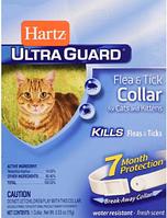 Ошейник ХАРТЦ 35 см HARTZ ULTRA GUARD для кошек от блох и клещей на 7 месяцев