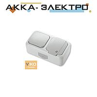 Комбинация розетки с заземлением и выключателя 1-кл.ViKO Palmiye 90555481 Белый