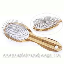 Щетка для волос массажная деревянная c металлическими зубцами 72250BP Salon Professional