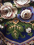 Посадский 874-14, павлопосадский платок (шаль) из уплотненной шерсти с шелковой вязаной бахромой, фото 2
