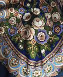 Посадский 874-14, павлопосадский платок (шаль) из уплотненной шерсти с шелковой вязаной бахромой, фото 4