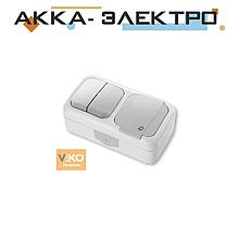 Комбінація розетки з заземленням та вимикача 2-кл. ViKO Palmiye 90555482 Білий