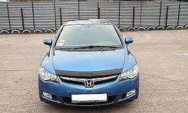 Дефлектор капота (мухобойка) HONDA Civic sd 2006-2012