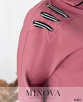 Яркий женский спортивный костюм украшенный шнуровкой большой размер от  50 до 62, фото 2