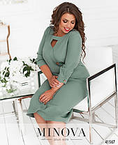 Приталенное женское платье с  вырезом, большого размера  от  50 до 62, фото 2
