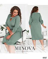Приталенное женское платье с  вырезом, большого размера  от  50 до 62, фото 3