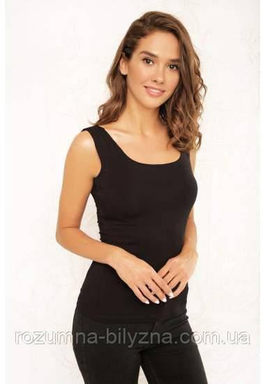 Майка жіноча з мода, чорного кольору. ТМ Anabel Arto. 42. 44. 46. 48. 50. 52.