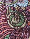 10390-8, павлопосадский хустку з віскози з подрубкой, фото 6