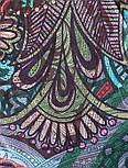 10390-8, павлопосадский платок из вискозы с подрубкой, фото 4