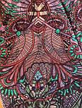 10390-8, павлопосадский платок из вискозы с подрубкой, фото 7