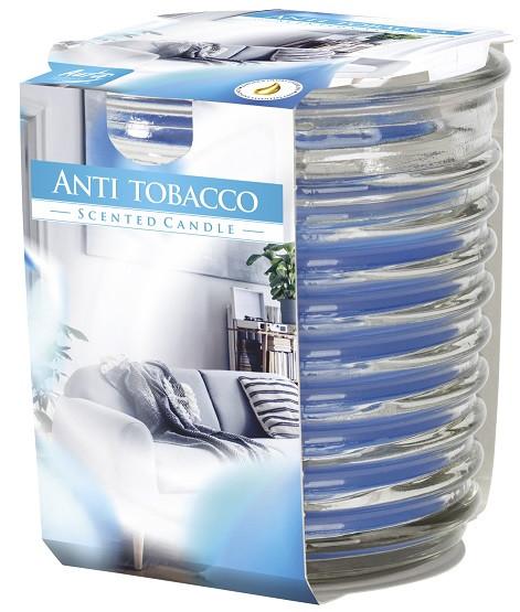 Аромасвеча в фактурном стекле Bispol антитабак 8 см (snw80-1-69)