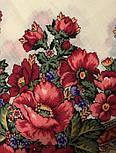 Розовый сад 1901-1, павлопосадский платок шерстяной с шерстяной бахромой, фото 7