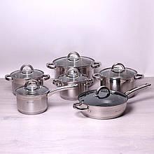 Набор посуды тяжелый матовый 12 предметов ( Польша) Kamille KM-5634S