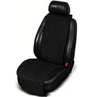 Накидка чехол на сидения автомобиля из Алькантары Эко-замша универсальный защитный авточехол Черный 1 шт