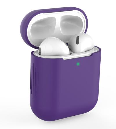 Чехол для наушников Apple Airpods TWS i10 i12 i13 Silicone Case Цвет Фиолетовый
