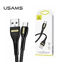 Плетёный USB Type-C USAMS U40 2.0А Black