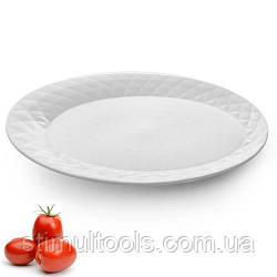 """Фарфоровое блюдо овальное сервировочное Stenson """"Диамант"""" 10"""", упаковка 6 штук"""