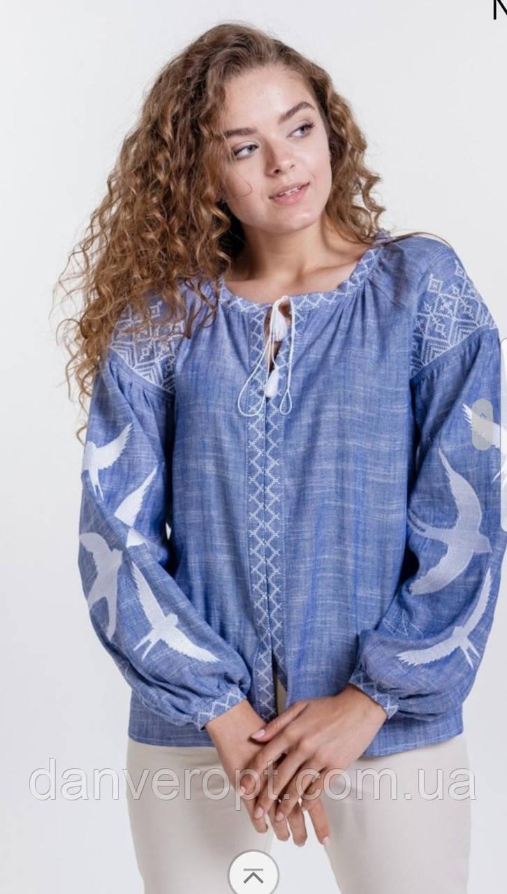Блузка вышиванка женская стильная размер S-L купить оптом со склада 7км Одесса