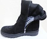 Ботфорты зимние женские на маленькой платформе, ботфорты женские зима от производителя модель СТС28, фото 6