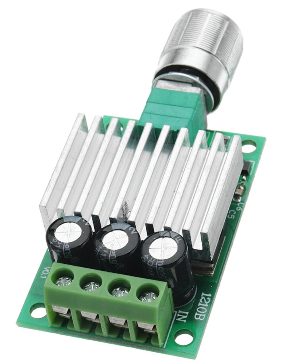 ШИМ контроллер. Управление скоростью двигателя постоянного тока с регулировкой 12-30В 10А