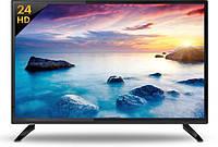 "Телевизор LED 24"" SLIM Home Full HD Slim, встроенный Т2, Черный"