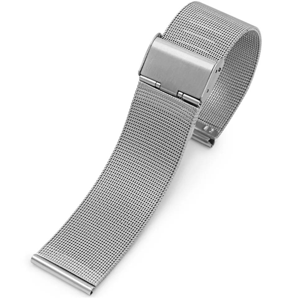 Ремінець сталевий Lemfo міланська петля шириною 22 мм Silver