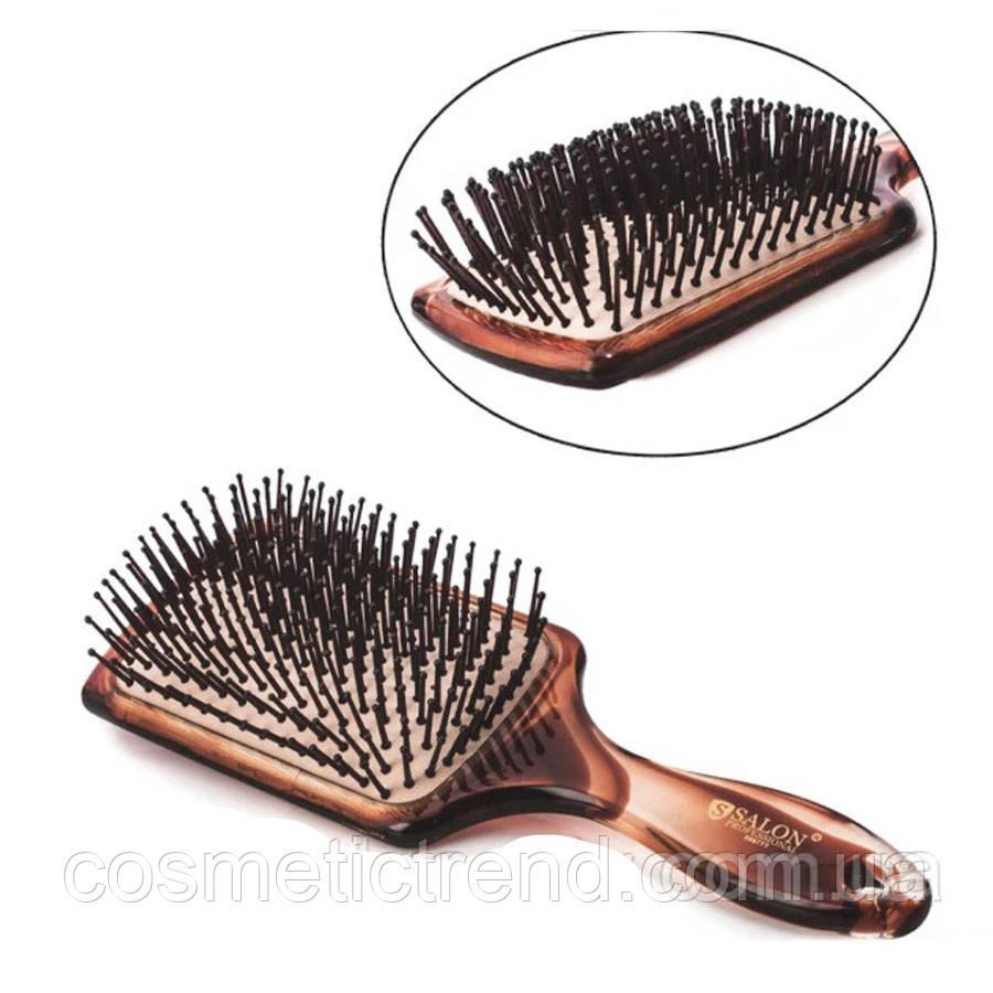 Щітка для волосся велика квадратна пластикова масажна Salon Professional 6997TT