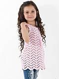 """Дитяче плаття-туніка """"Леді"""" в'язка+всередині підклад, фото 3"""