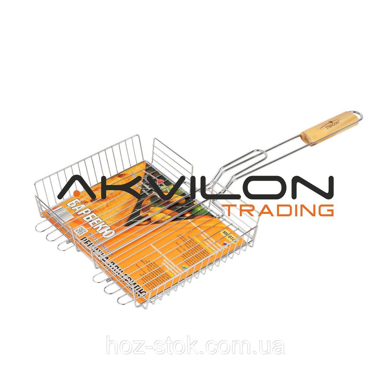Решітка-гриль Stenson середня 64x31x26x6.5см МН-0140 (MPH004803)