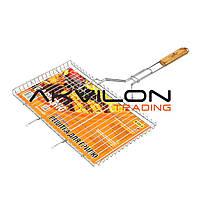 Решітка-гриль Stenson плоска велика 66x45x26см МН-0164 (MPH004797)