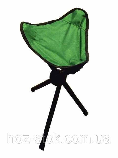 Стільчик для риболовлі трикутний 31х31х40 в чохлі складаний (зелений) 550 г (ВМ-Н-101В)