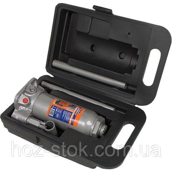 Домкрат гідравлічний пляшковий в ящику 5т, 216-413 мм (80-031)