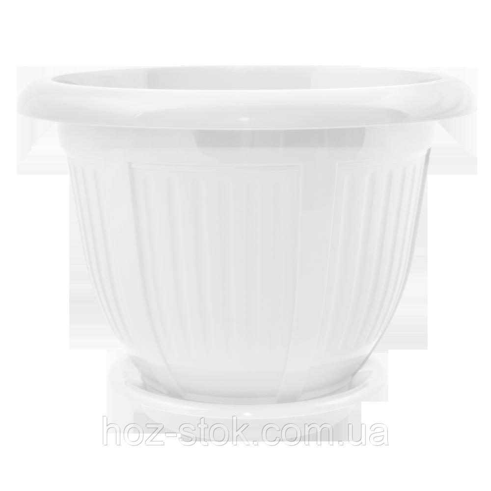 Вазон з підставкою Хвиля 12x10 см, 0.5 л (кольори в асортименті) (112049)