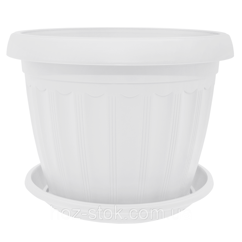Вазон з підставкою Терра 12x9 см, 0.55 л (кольори в асортименті) (112069)