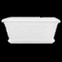 Вазон з підставкою Петунія Алеана прямокутний 40.6х21.8 см, 8 л (білий флок) (113034)