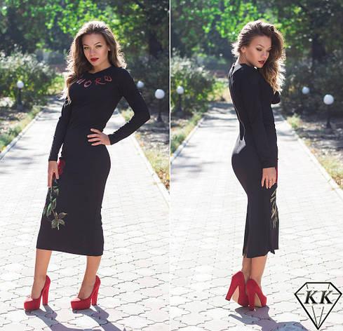 Черное платье 152032, фото 2