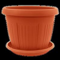 Вазон з підставкою Ніколь Алеана 22х17 см, 3,4 л (теракот) (113005)
