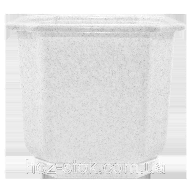Вазон з підставкою Дама Алеана 20х20 см (білий) (112025)