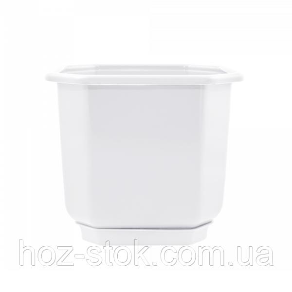 Вазон з підставкою Дама Алеана 28х28 см (білий) (112023)