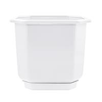 Вазон з підставкою Дама Алеана 36х36 см (білий) (112021)