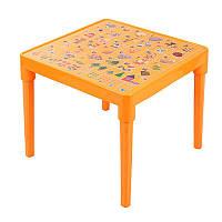 Стіл дитячий (світло-помаранчевий) (100025)