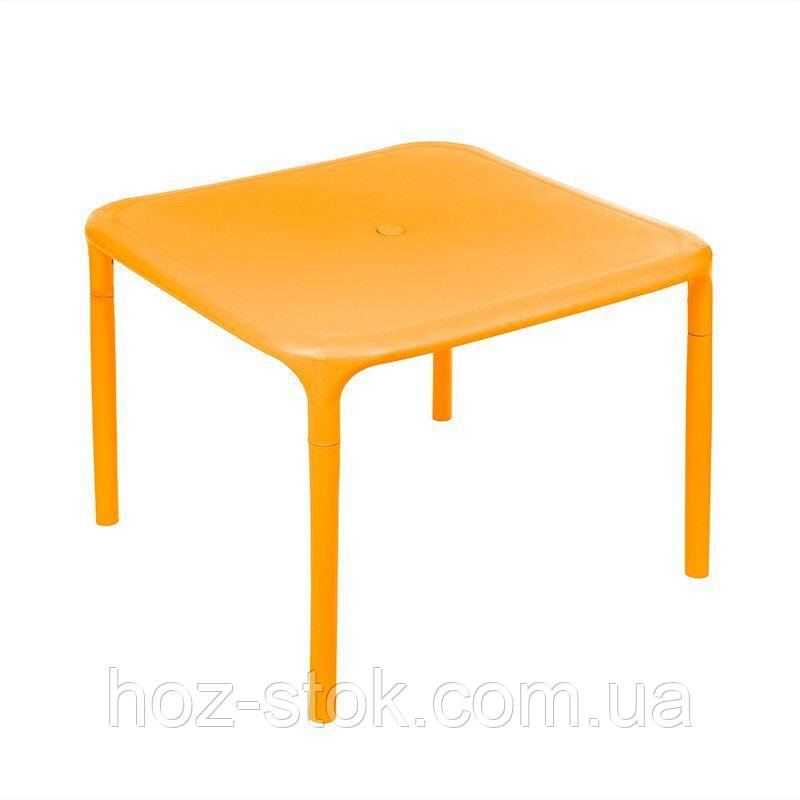 Стіл квадратний маленький Альф (світло-помаранчевий) (100026)