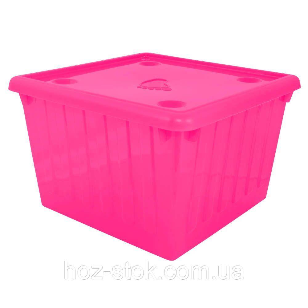 Ємність для зберігання речей з кришкою Алеана 25 л (темно-рожевий) (122043)