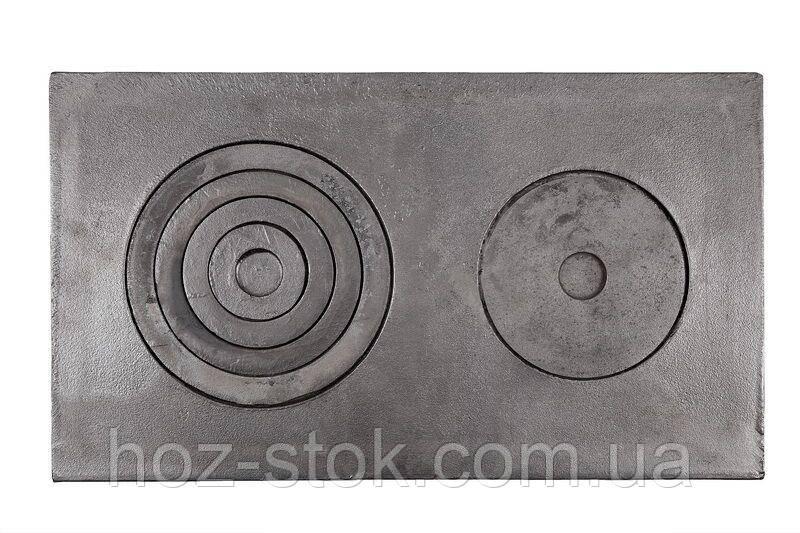 Плита чавунна двоконфорочна 710x410 мм