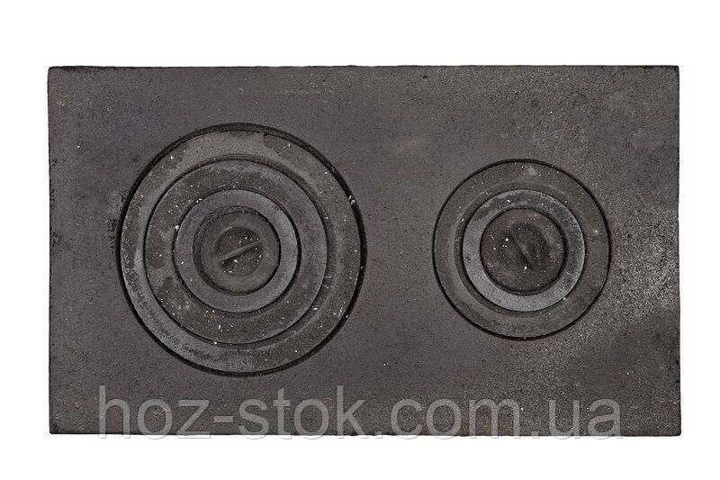 Плита чавунна двоконфорочна 710x410 мм, земляна (ПД-3)