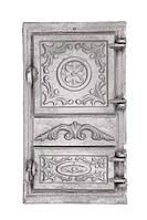 Дверцята чавунні спарені 265x480 мм, фото 1