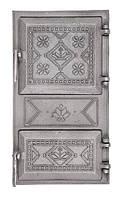 Дверцята чавунні спарені (Вишиванка) 490х270 мм, фото 1